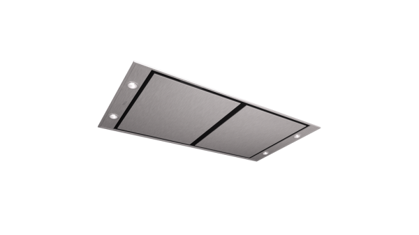 Ceiling hood with rim extraction Contour system and ECOPOWER motor in 120 cm