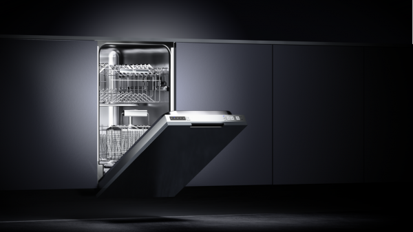 Built-in A++ dishwasher for 9 place settings and 5 washing programs in 45 cm