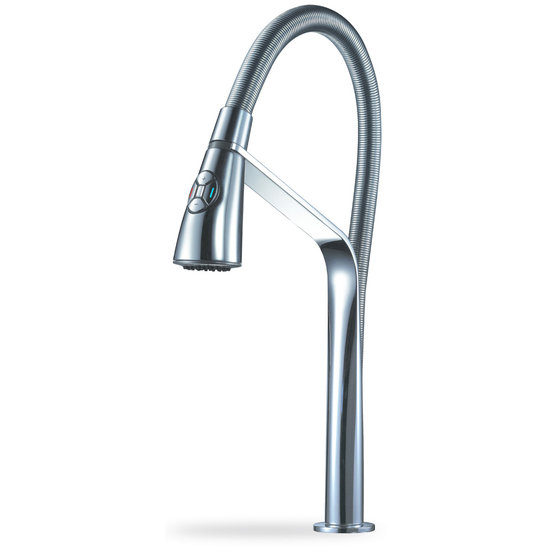 Single handle single hole electronic control high-throw pull-down kitchen faucet